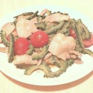 ゴーヤと豚肉の味噌トマト炒め