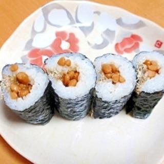 1人ランチに簡単☆納豆とろろ昆布巻き☆