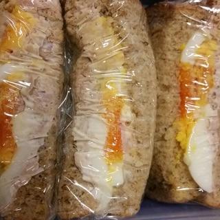 ツナマヨとゆで卵のサンドイッチ