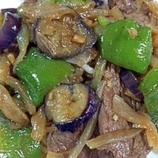 牛さがりと野菜の炒め物