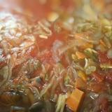 シリコンスチーマーで作るスープ