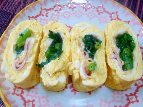 ♥ ほうれん草&ベーコンの卵焼き ♥