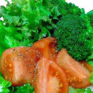 ミックスリーフ*ブロッコリー*トマトのサラダ