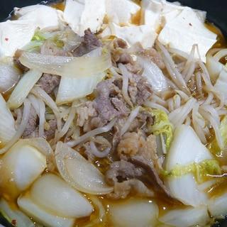 味付き肉ですき焼き煮込み