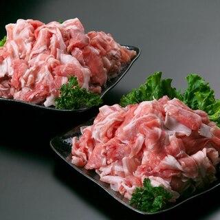 都城産黒豚「とんぷきん」小間切れセット