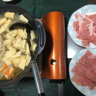 野菜たっぷり! 豚しゃぶ鍋