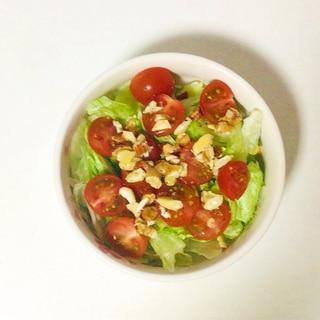 ナッツドレッシングの簡単サラダ