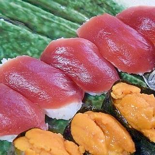 レトルトご飯で☆1人前「握り寿司」