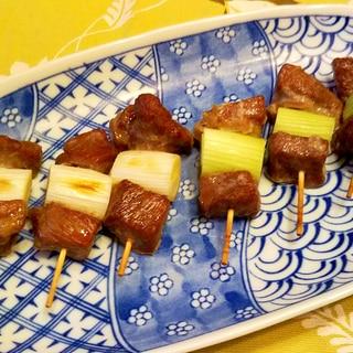 猪肉と葱の串焼き