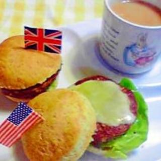 紅茶の空き缶で作る♪ミニハンバーガー