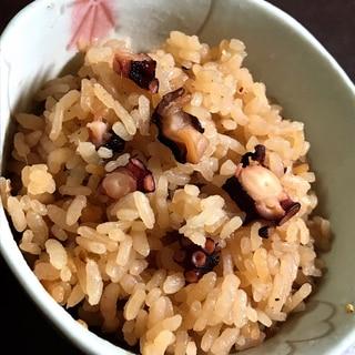 タコの甘辛煮をアレンジ→タコ飯