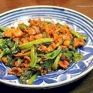 青菜と豚肉のマーボー味