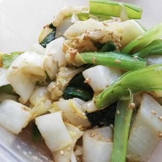 白菜と小松菜のごま味噌和え
