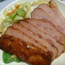 黒豚チャーシューと野菜炒め