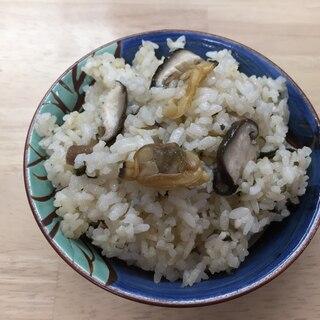 アサリと椎茸のあっさり炊き込み御飯