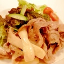 濃厚☆豚肉とエリンギのマヨチーズ炒め☆