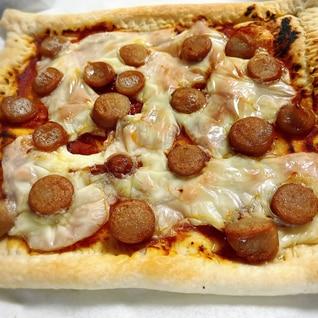 パイシートで超簡単!親子で作れるソーセージピザ!