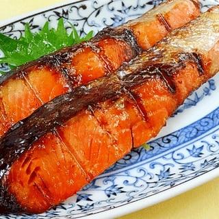 焼く前に洗いがコツ☆ 「紅鮭の塩麹焼き」