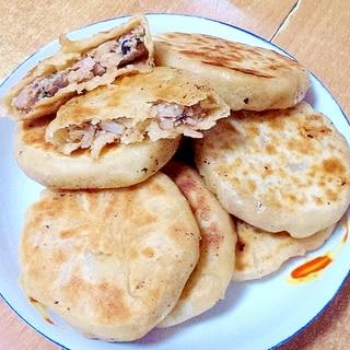 豚肉ときくらげと玉ねぎの中華風おやき(肉餅)