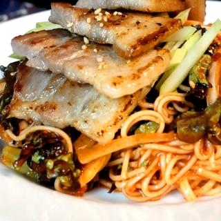 サムギョプサルビビン麺