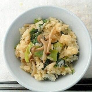 簡単しめじと小松菜の炊き込みご飯