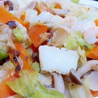 シーフードの野菜炒め