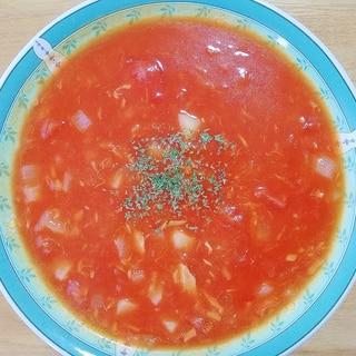トマトジュースでツナのトマトチャウダー