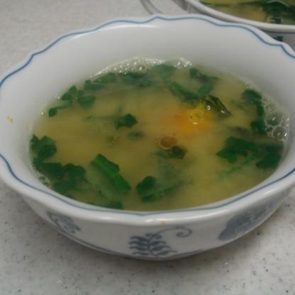 ほうれん草と南瓜の中華風味噌スープ