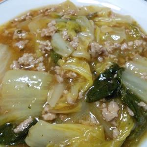 麻婆豆腐の素を使って☆簡単☆麻婆白菜