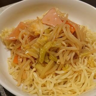 マルちゃん正麺冷し中華で*あんかけ焼きそば
