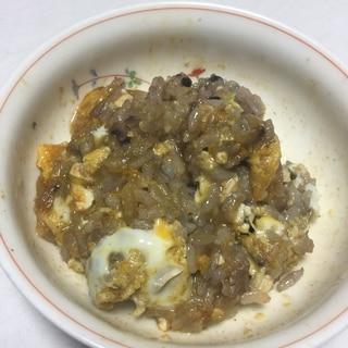 オートミール入りキムチ雑炊