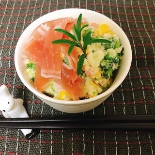 ブロッコリーのお花畑サラダ(潰瘍性大腸炎◎)