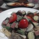 夏野菜たっぷりパスタ