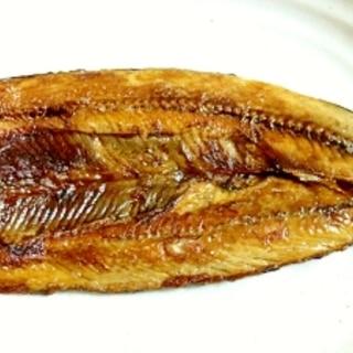 フライパンで秋刀魚開き