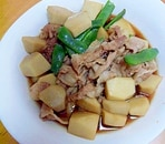 里芋と豚肉の煮物