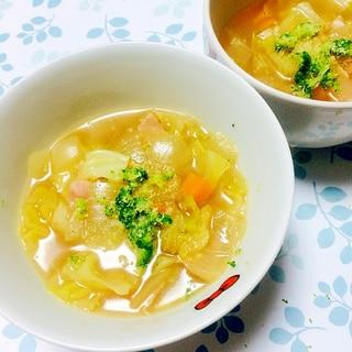 胃に優しい!あったかキャベツスープ