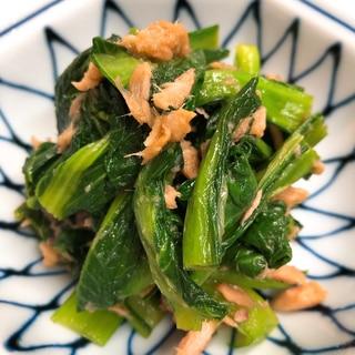 小松菜とツナのおひたし