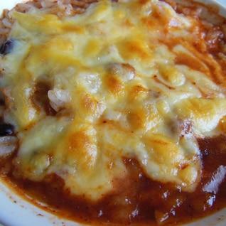 トマトスープのリメイク★チーズたっぷりドリア