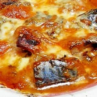 すっごく簡単☆サバ味噌煮缶のチーズ焼き