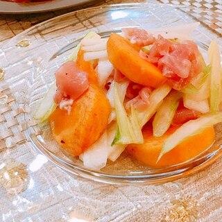 デザートだけじゃない!今が旬の柿を使った絶品おつまみ・おかずレシピ