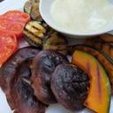 野菜のグリル〜ダブルチーズソース