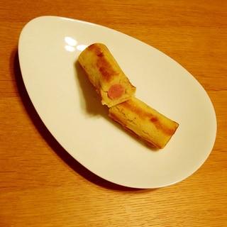 卵焼きのフライパンで作るスリムなアメリカンドック