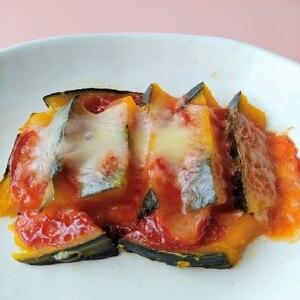 レンジで簡単★カボチャのチーズ焼き