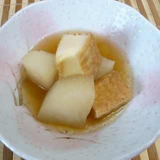 めんつゆで簡単、大根と厚揚げの煮物