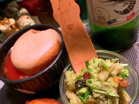 アボカドと豆と雑穀のじゃがりこサラダ