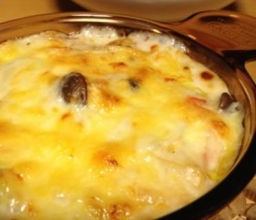 白菜パスタグラタン