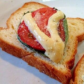 タルタルで 大葉とトマトのチーズデニッシュパン