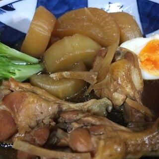 圧力鍋で☆大根と鶏手羽元のカボス煮込