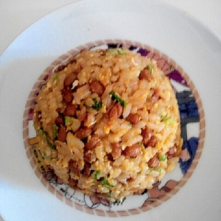 ナンプラー納豆チャーハン
