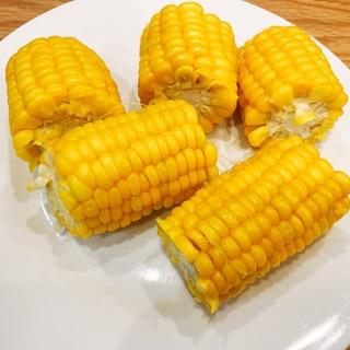 レンジで簡単!おいしいトウモロコシ
